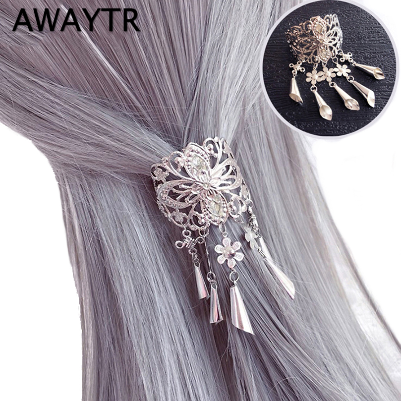 AWAYTR New Chinese Style Hair Clips for Women Cherry Hairpin Girls Elegent Ladies   Headwear   Costume Hanfu Hair Accessories