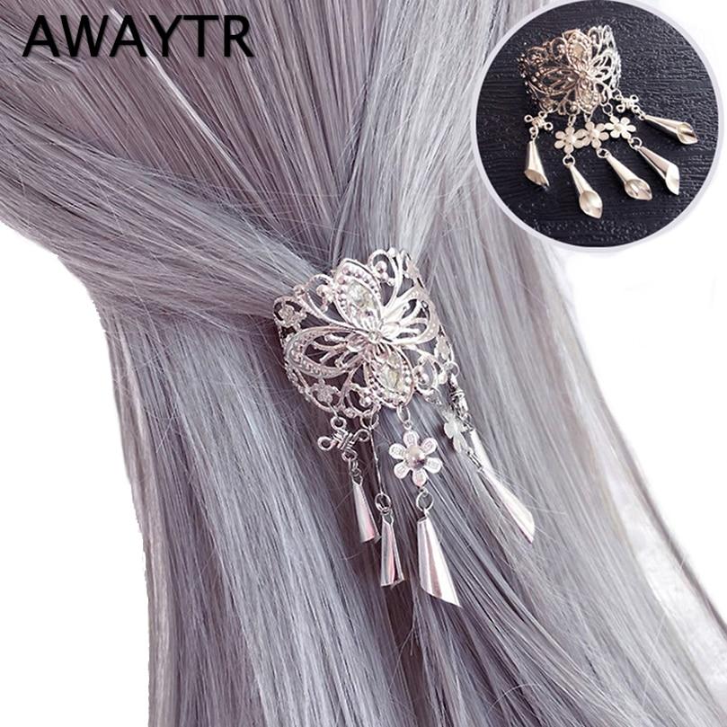 AWAYTR New Chinese Style Hair Clips for Women Cherry Hairpin Girls Elegent Ladies   Headwear   Costume Hanfu Hair Accessories