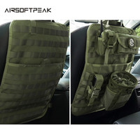AIRSOFTPEAK 600D Tactical Nylon Seat Back Protector Cover Storage Bag Pouch Car Seat Covers For Front