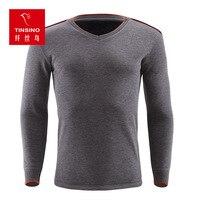 2017 Mens Thermal Underwear New Fashion Warm T Shirt Plus Velvet Neck Innery Winter Underwear Thick