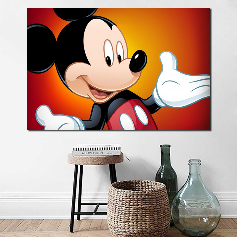 Framed! Home Decor HD Art Disney Canvas Painting Print Animation Background
