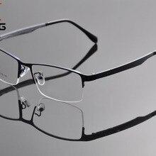 DEDING, мужские деловые очки, прозрачные линзы, очки для близорукости, оправа, металлическая полуоправа, очки для глаз Oculos de Grau DD1316