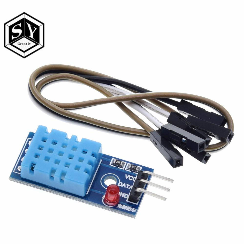Умная электроника DHT11 GREAT IT, 1 шт., модуль датчика температуры и относительной влажности для arduino, комплект «сделай сам» со светодиодом