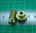 0.5M-20T worm gear high speed reduction ratio 1:20-Remote control toys steering gear worm gear combination