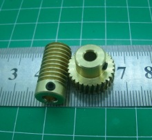 цены 0.5M-20T worm gear high speed reduction ratio 1:20-Remote control toys steering gear worm gear combination