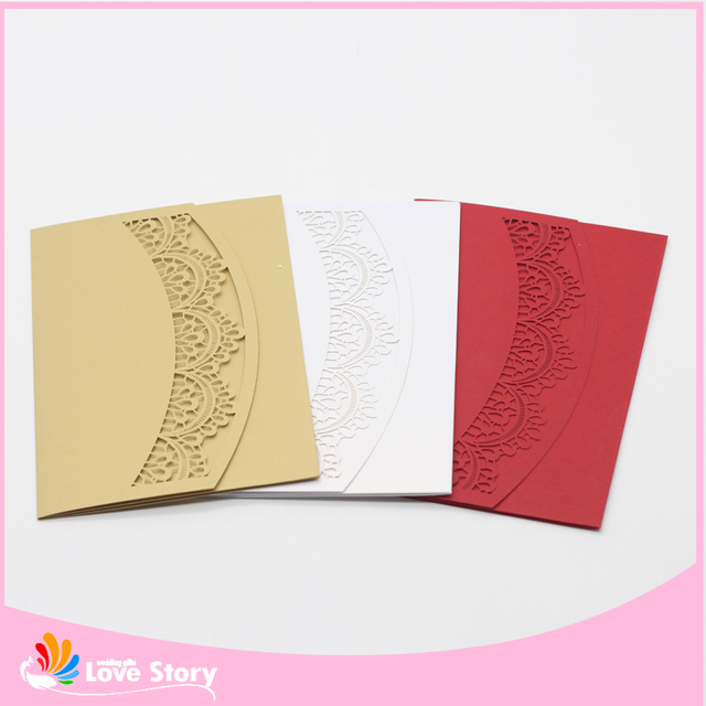 10pcslot laser cut paper simple invitation card for wedding favors 10pcslot laser cut paper simple invitation card for wedding favors baby shower greeting cards stopboris Gallery