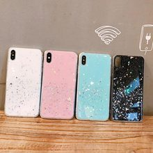 Glitter Soft TPU Phone Case For iPhone 8 Plus XS XR X Xs Max 7 Plus Cases Plain Glossy Cover For iPhone 6S Plus 6 Plus Cute Case strawberry tpu soft case for iphone 7 x xs xr xs max 8 plus cases glossy phone case for iphone 6s plus 6 plus fashion cover