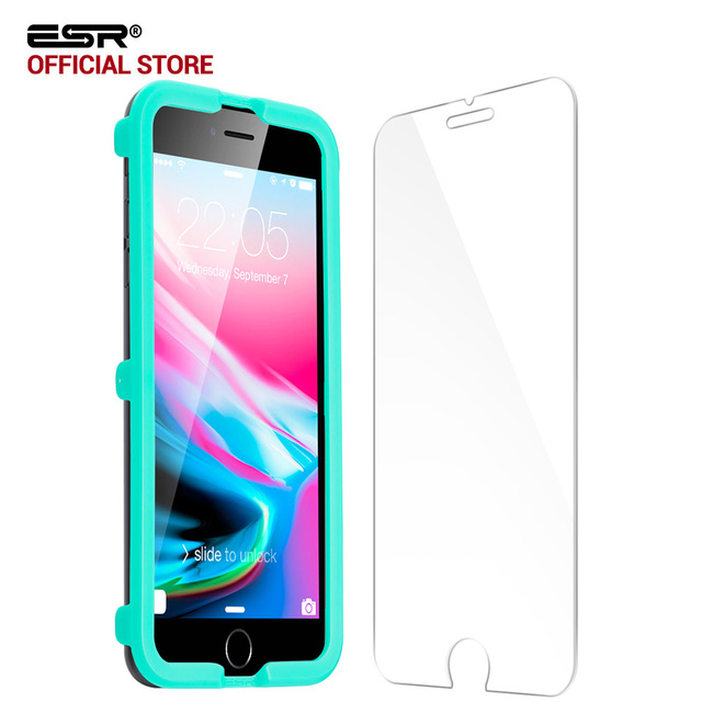 info for 23cee 08c5e US $8.86 |Screen Protector for iphone 8/8 Plus, ESR 1Pc 5X Stronger  Tempered Glass Protector with Free Applicator for iphone8 8 Plus 7 7P -in  Phone ...