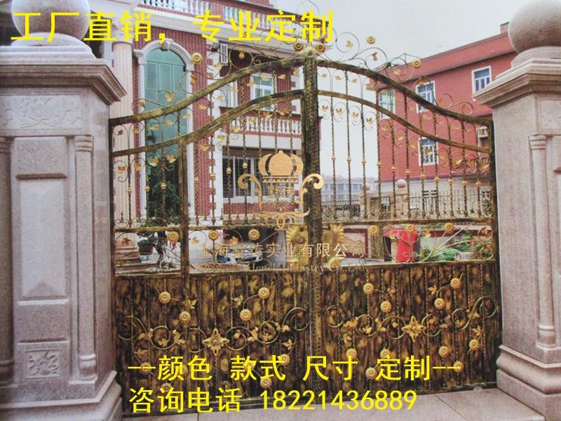 Custom Made Wrought Iron Gates Designs Whole Sale Wrought Iron Gates Metal Gates Steel Gates Hc-g23