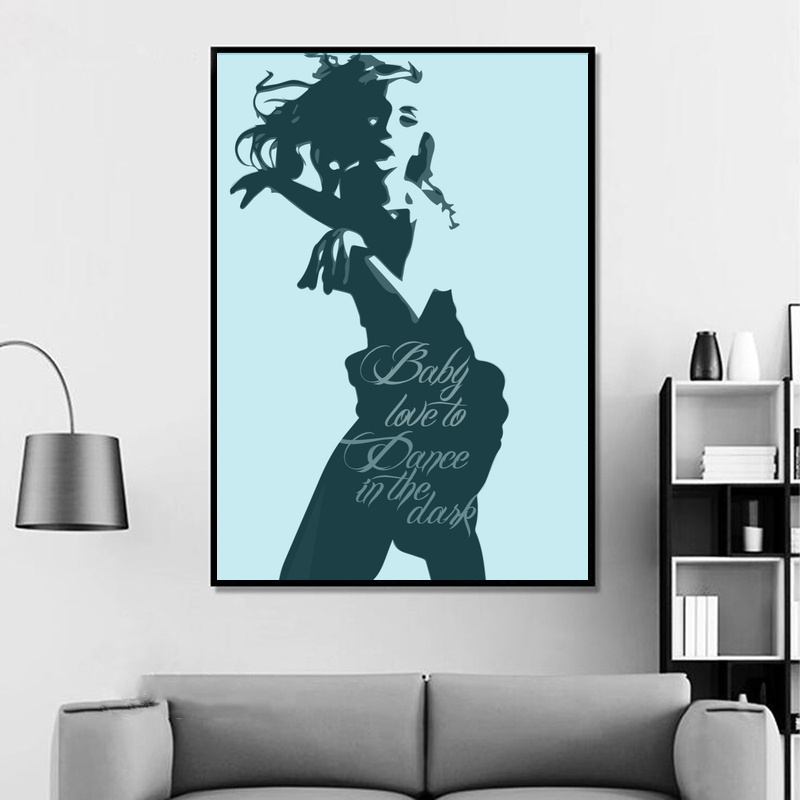 Hot New Lady Gaga Music Girl Singer Star Hot Art Poster Top Canvas