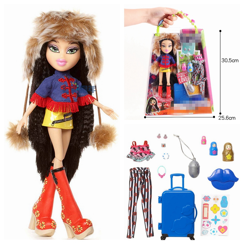 Original Bratz Study Abroad Doll Red Hair And Beautiful Clothes Dress Up Doll