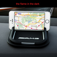 Car Non Slip Mat Cell Phone Styling AMG Logo For Mercedes Benz W204 W205 Cla Class