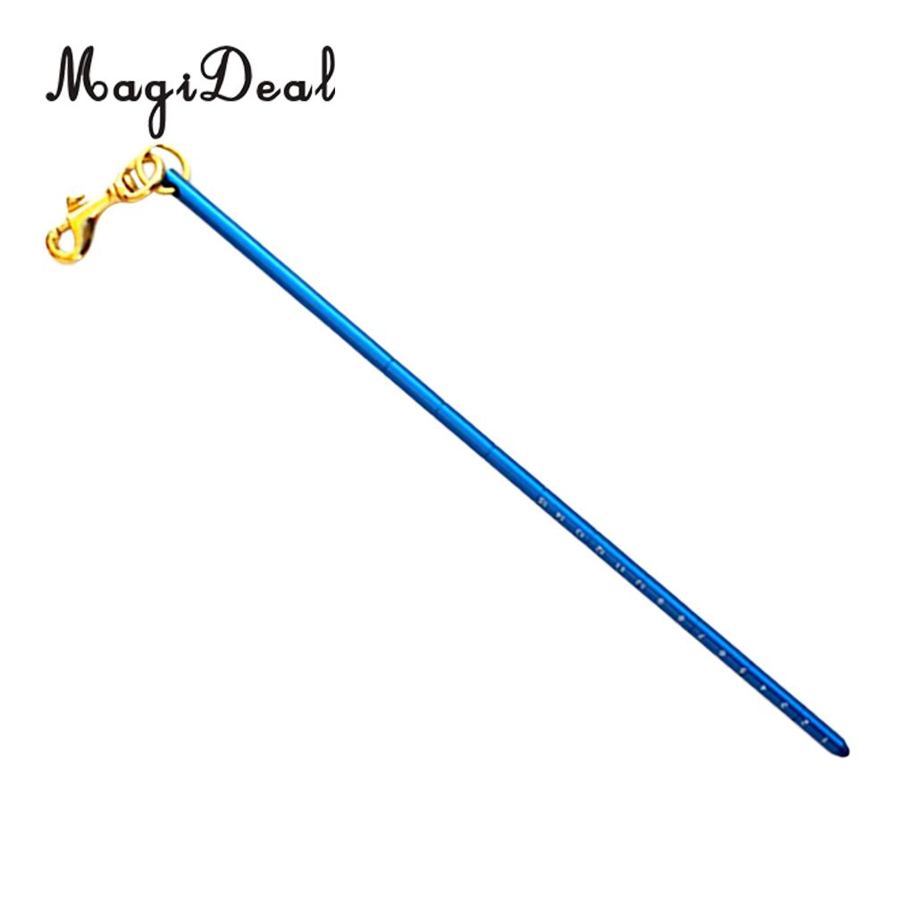 MagiDeal Aluminum Alloy 13.4 340mm Scuba Diving Dive Lobster Stick Pointer/Tank Banger With Attachment Clip (Brass Bolt Snap) ...