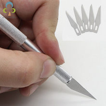 6 pcs Carving Mes sets 1 Carving Pen + 5 blades Aluminium Pole Leer Mes Papier snijden mes Carving tool LYQ(China)