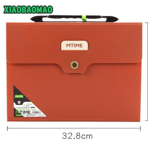 Thicker! Simple Metal Button 32.8 X 24.6 X 3.8cm A4 Paper Supplies Organ Bag Expanding File Folder