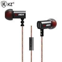 Original KZ ED4 Super Bowl Tuning Nozzles Driver Monitoring HIFI Headphones With MIC Headphones For A