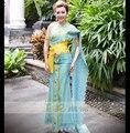 Dai prinzessin Kleidung blau Thailand kostüme Thai mode zeigen foto galerie Verschleiß jahrestagung Host Outfit Hotel Verwenden Uniform