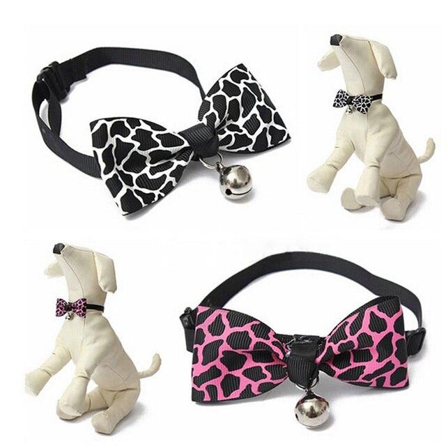 1 sztuk bezpieczeństwa pies kot zwierzęta domowe są kołnierz śliczna mucha obroże dla psów z dzwonkiem szczeniak kotek krawat kołnierz 6 kolorów