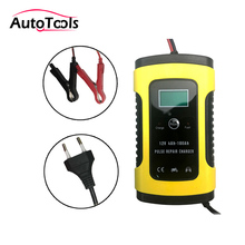 Intelligent car battery Charger for motorcycle Lead Acid Smart Charging 6A 12V vehicle Digital battery tester repair tools