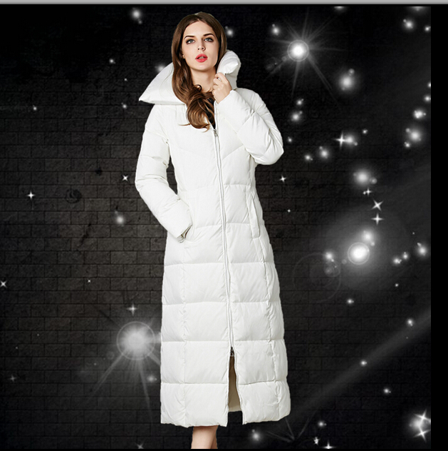 Nice Euro Star Fashion Parka Winter Coat Women Thick Long White ...