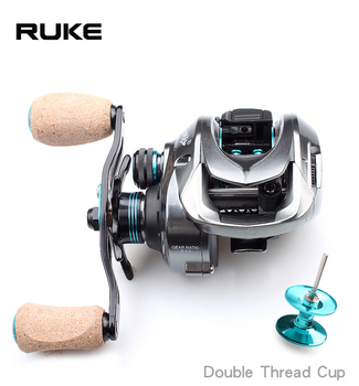 RUKE  new casting reel, Double thread cup fishing reel,11+1 bearing.Brake Force 8 kg,Gear Ratio 8.1:1,free shipping - discount item  18% OFF Fishing