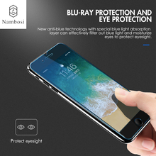Nambosi Anti Blue Light Tempered Glass for iPhone 6 7 Plus Screen Protector Compatible With Apple iPhone 7 6【Eye Protection】