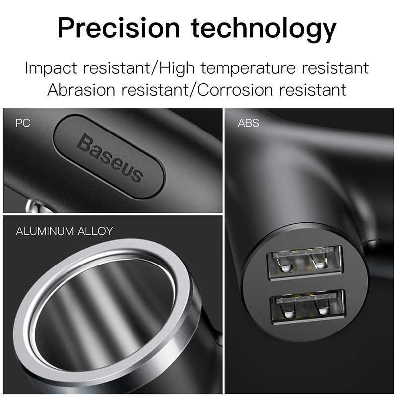 Baseus ładowarka samochodowa 40W podwójne usb bocznik dla iPhone X Xiaomi zapalniczka samochodowa gniazdo do szybkiego ładowania ładowarka samochodowa