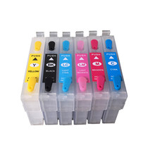 T0781-T0786 Refillable ink cartridges for Epson stylus RX580 R260 R280 R380 RX595 RX680 Printer(China)