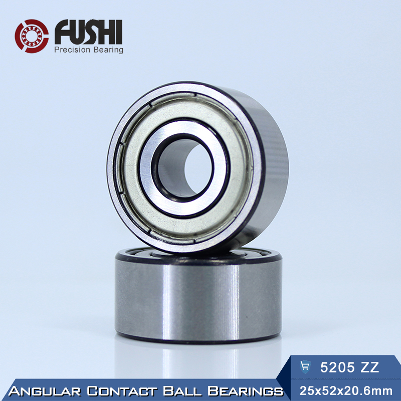 5205 ZZ Bearing 25 x 52 x 20.6 mm ( 1 PC ) Axial Double Row Angular Contact 5205ZZ 3205 ZZ 3056205 Ball Bearings
