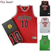 Хипджазер Slam dunk Косплей Shohoku Sakuragi 10# Hanamichi 11# Rukawa Kaede Баскетбол Джерси спортивные баскетбольные футболки для хипхопа