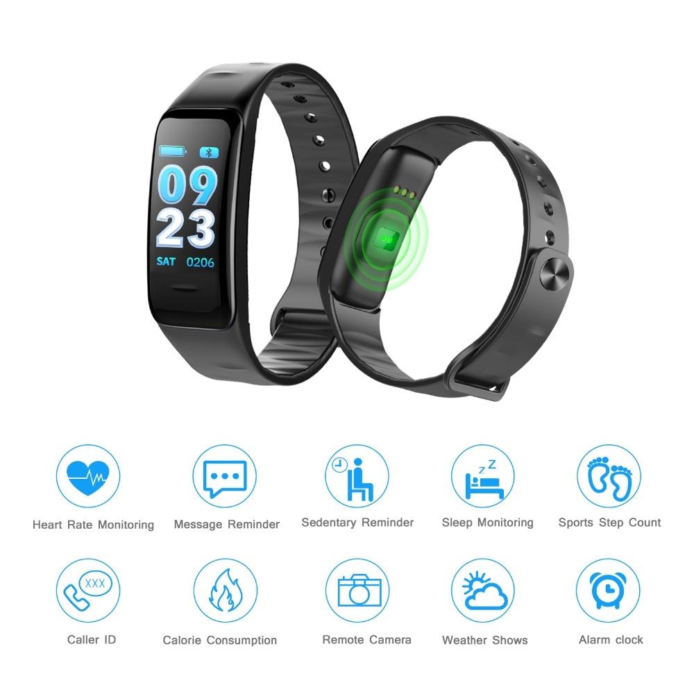 C1plus Smart brandSmart wristband Heart rate tracker Waterproof Blood pressure oxygen Pulse Oximeter Fitness Smart watch цена 2017