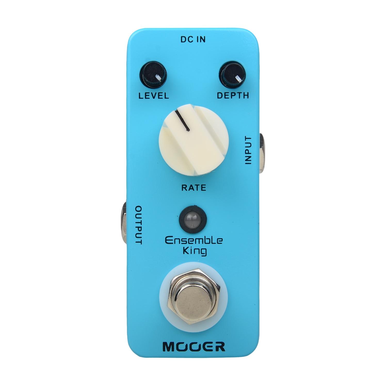 Mooer Ensemble King Chorus Effect Pedal Electric Bass Guitar True Bypass Metal Shell mooer blue faze fuzz pedal electric guitar effect pedal true bypass mfz1