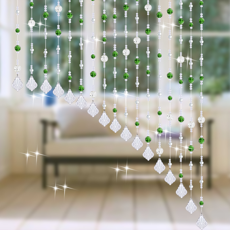 Bon Fashion Home Party Decor Living Room Window Bedroom Door 100 Crystal Glass  Beads Rope Curtain Hanging
