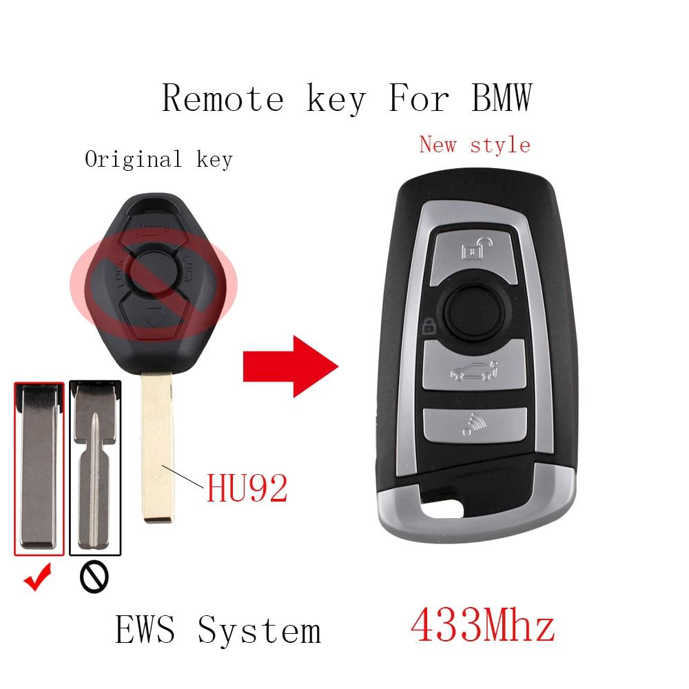 New style Remote key For BMW EWS system 433/315Mhz 325 330 318 525 530 540 E38 E39 E46 M5 X3 X5 Transponder Chip PCF7935+HU92