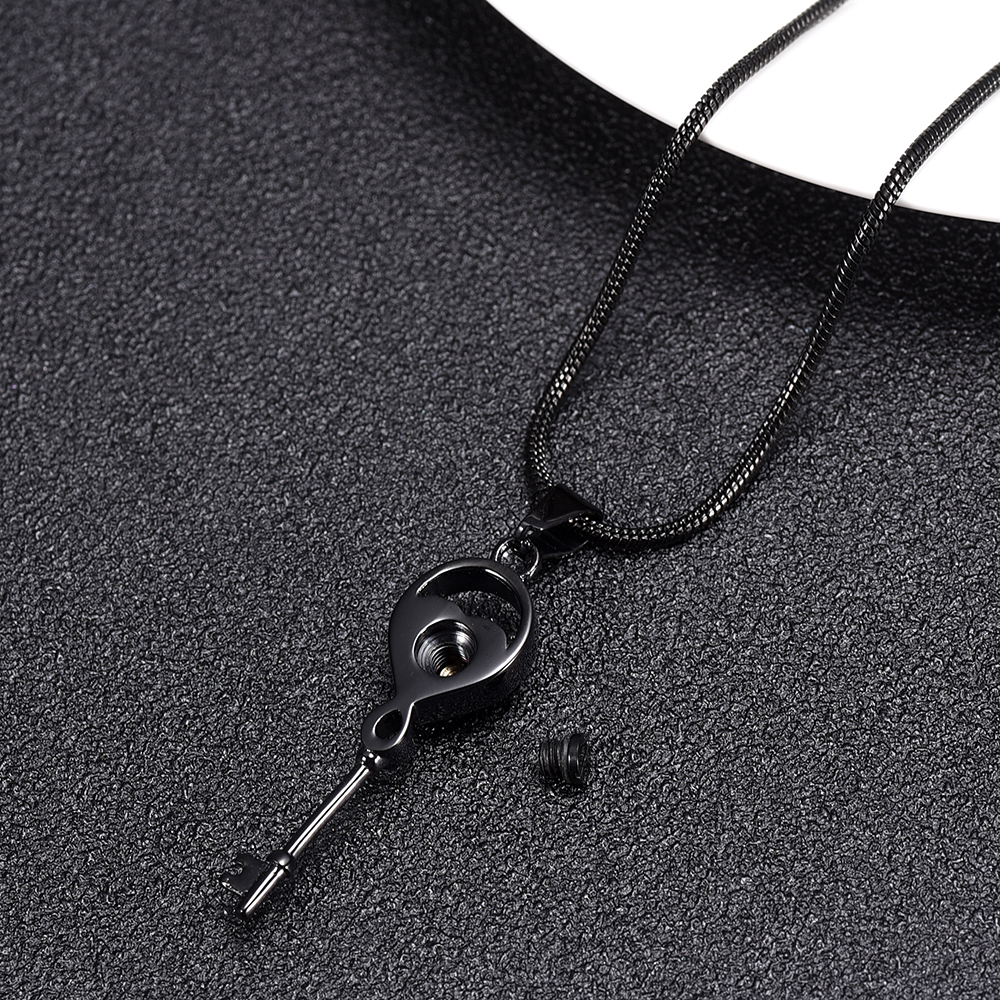 IJD11526 Stainless Steel Key with My Heart Cremation Keepsake Necklace for Ashes Urn Pendant Memorial Jewelry in Chain Necklaces from Jewelry Accessories