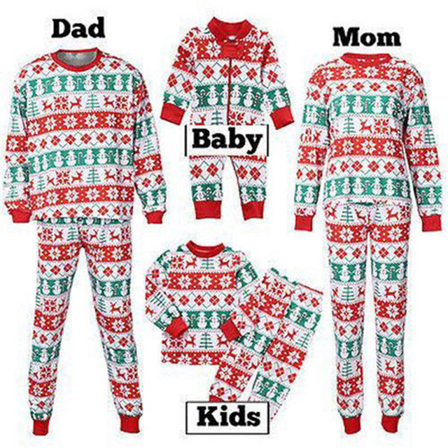 family matching christmas pajamas set 2017 new bebes xmas women men baby kids sleepwear nightwear cute
