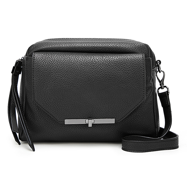 AMELIE GALANTI Small Crossbody Bags for Women 2018 Luxury Leather Women Handbags Soft Solid Flap Bag with Cell Phone Pockets Bag