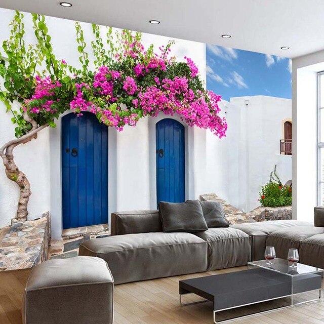 Murales Carta Da Parati personalizzata Romantico Grecia Architettura ...