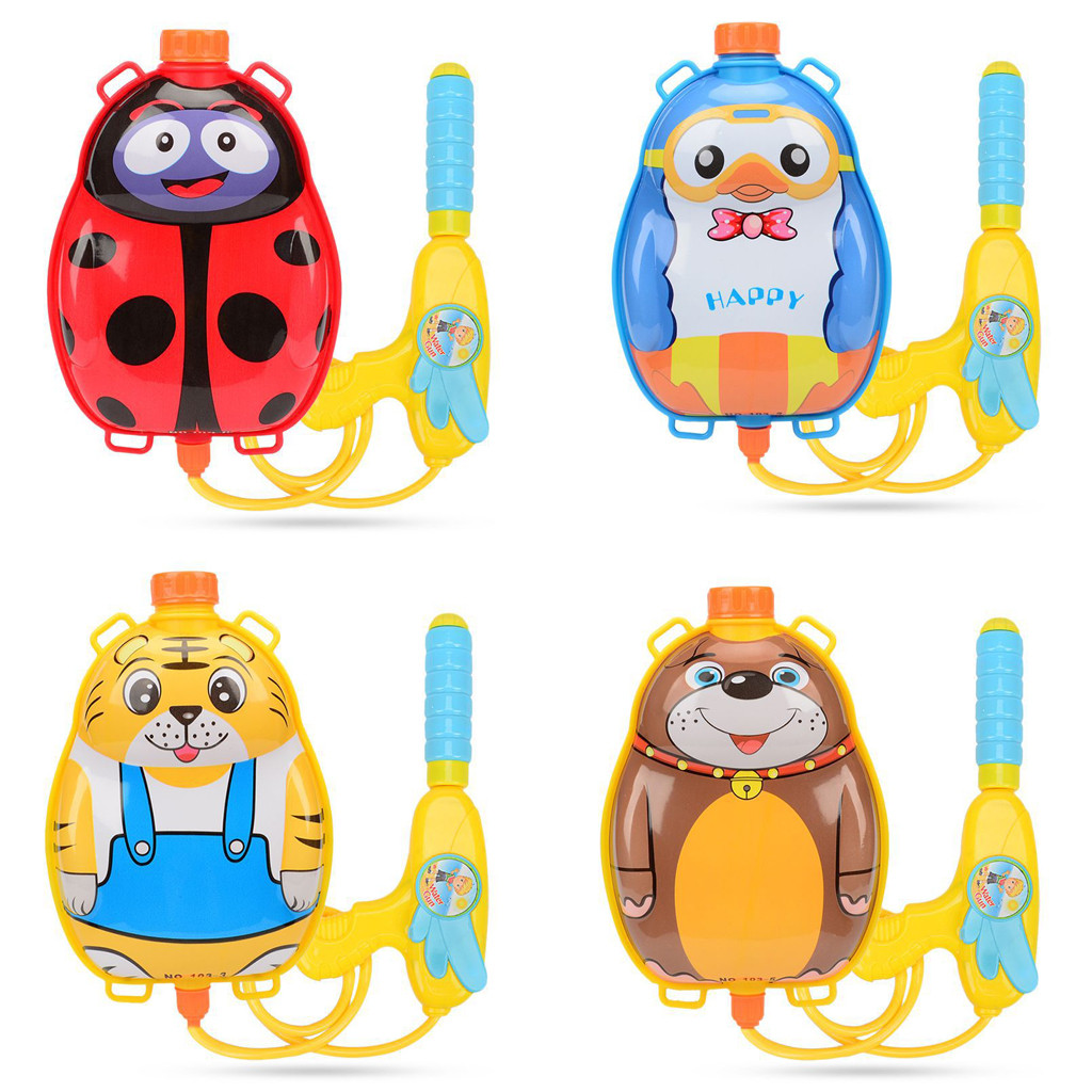 4 Style Summer Shooting Toy Water Fight Boy Girl Pressure Backpack Water Guns Baby Playing Water Outdoor Beach Toys For Children