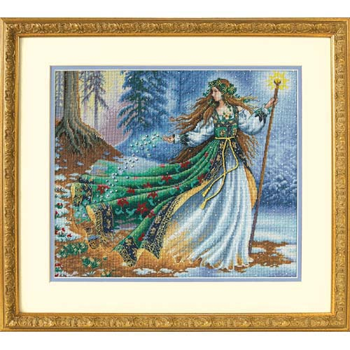 Top Quality Popular Lovely Counted Cross Stitch Kit Woodland Enchantress Dim 35173 Fairy Wizard Witch