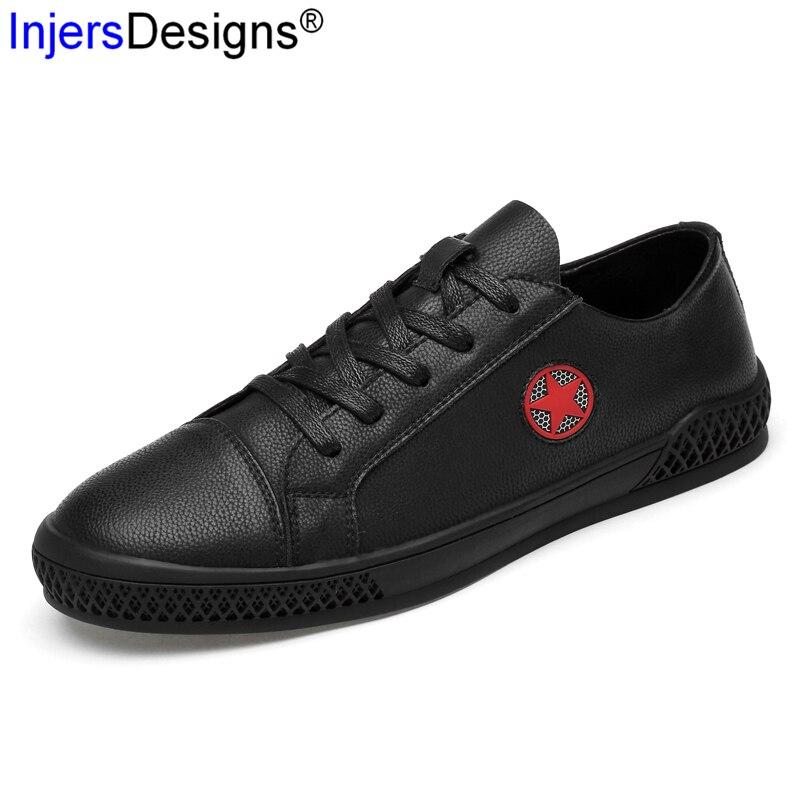 Formateurs Chaussures Hombre Mâle Sport Qualité Appartements Zapatos À Sneakers De Marque Roulettes En Respirant white Black Planche Cuir Hommes Mode 3j5Aqc4LR