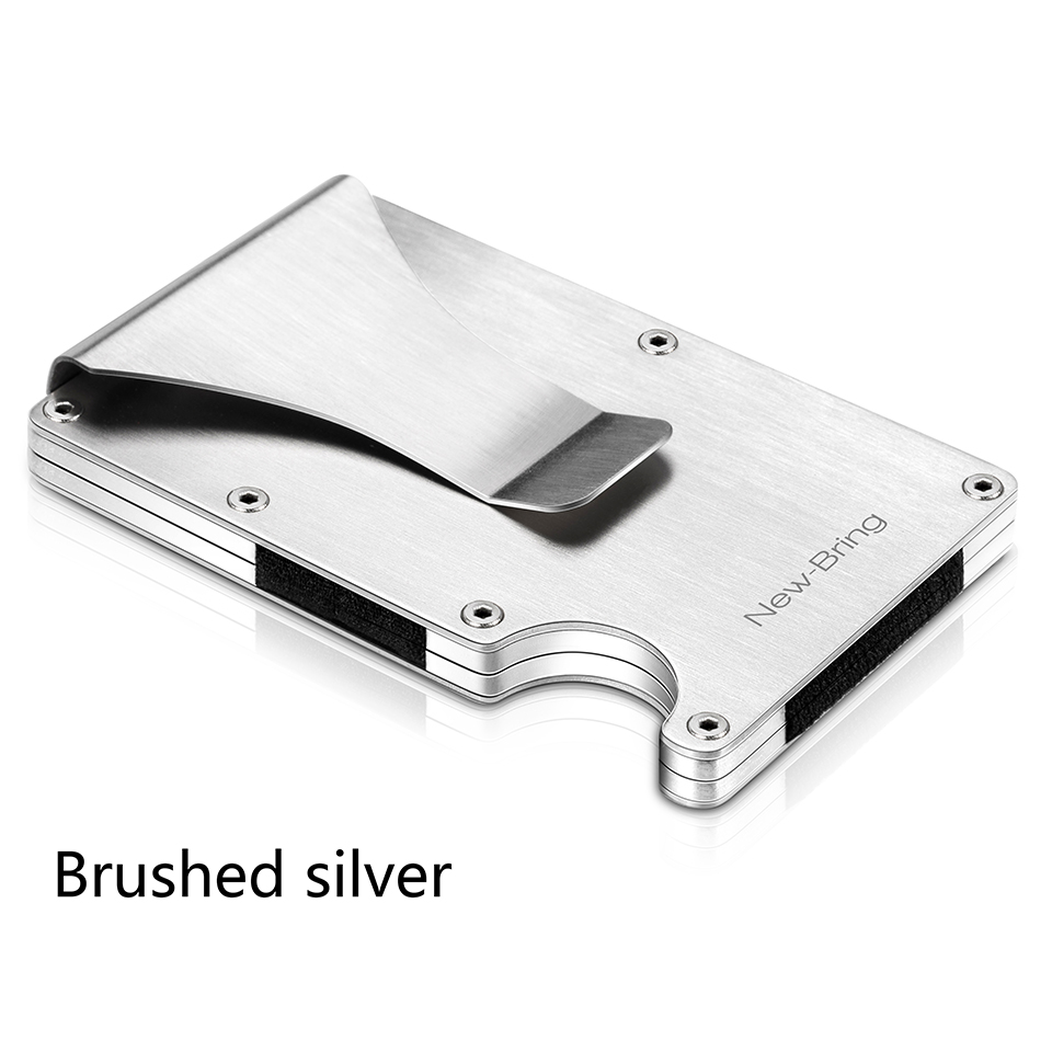 Summer Slim Credit Card Holder Aluminium ID Card Holder Man Wallet with RFID Anti-theft Protection