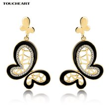 Женские серьги гвоздики с кристаллами toucheart роскошное модное