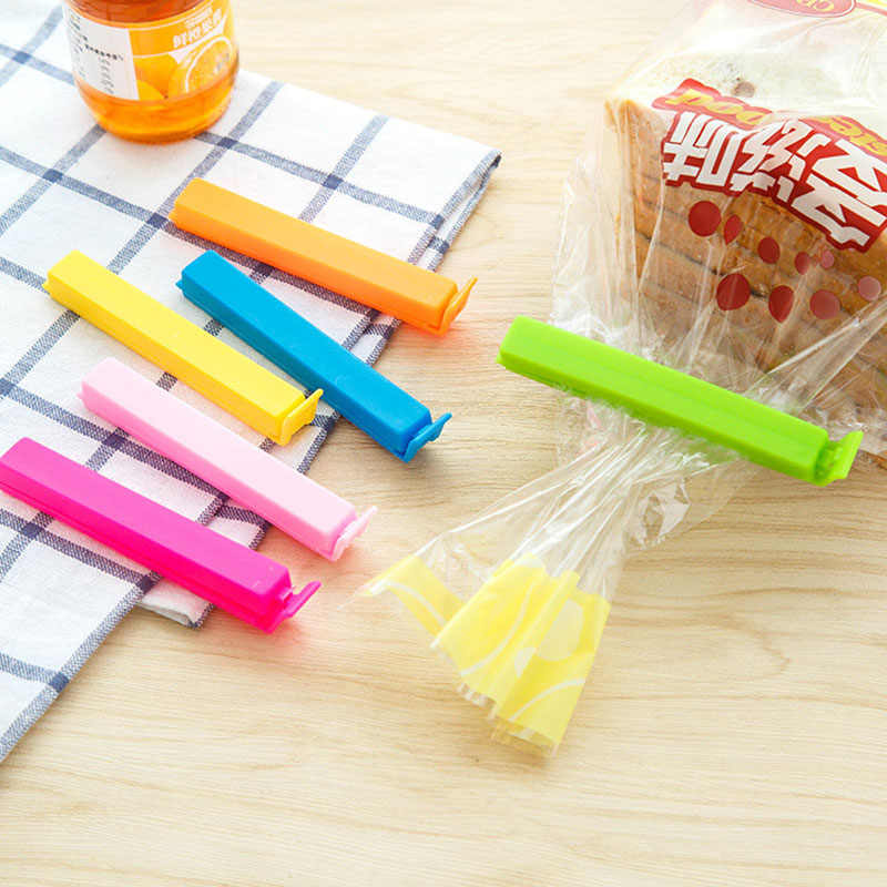 5/10 PCS Random Color Portable New Kitchen Storage Food Snack Seal Sealing Bag Clips Sealer Clamp Plastic Tool Bag Clip Hot Sale