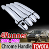 For Toyota 4Runner N210 2003 2009 Chrome Handle Cover Trim Set SW4 Hilux Surf 2004 2005