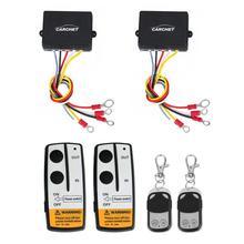 CARCHET winch 12 V Control Remoto 2 sets Wireless Winch Control Remoto Kit de Control DC 12 V 50 Pies para el Carro Jeep SUV ATV