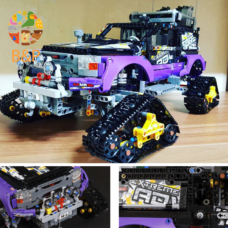 DHL Legoing Technic 20057 2050pcs The Ultimate Extreme Adventure Car Model Building Block DIY Bricks 42069 Toys For Children hot technician technics extreme adventure 2in1 building block model tracked vehicle bricks 42069 toys collection for kids gifts