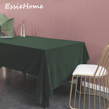 ESSIE HOME Emerald Green Rich Single Side Matte Velvet High End Table Cloth Linen Wedding Decoration Placemat