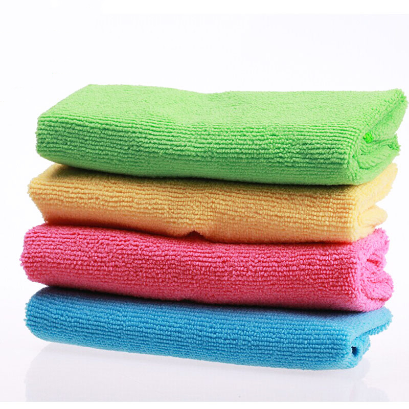 """16pcs 12""""x12"""" Absorbent Fast Drying Microfiber Towel Micro Fiber Cleaning Cloths Wiping Rags Kitchen Dish Towels Cleaning Rag-in Cleaning Cloths from Home & Garden"""