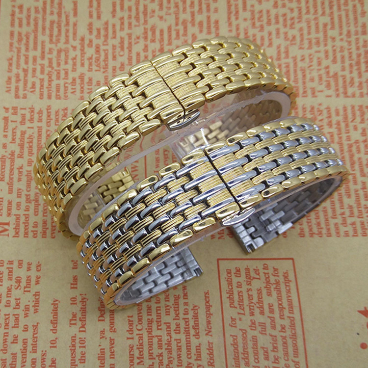 New Arrival 2015 Fashion Thiner Watchband Stainless Steel Metal Watch Straps For Ladies Mens Hours 18mm 20mm 22mm Gold Promotion